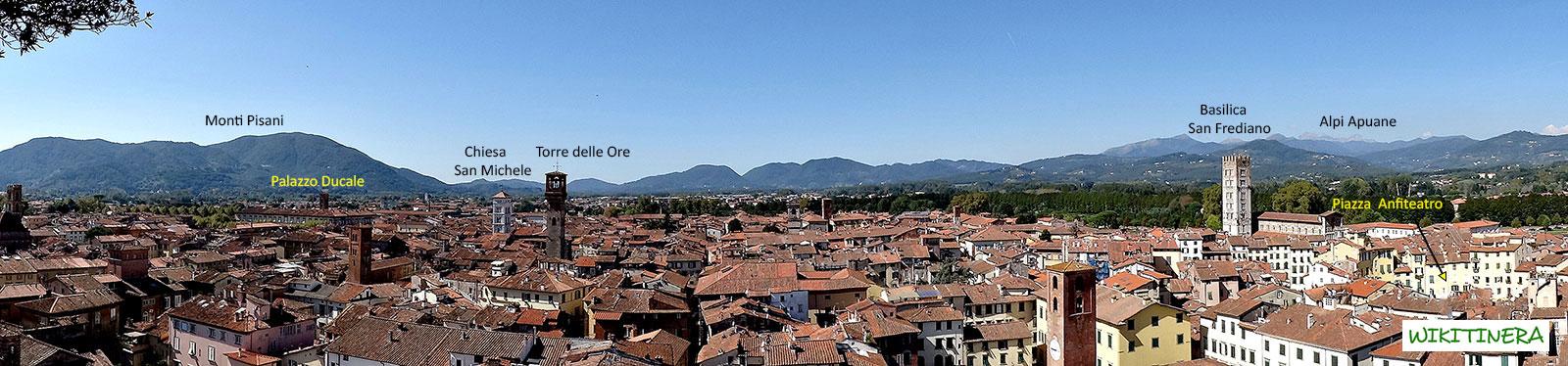Paesaggio dalla Torre Guinigi